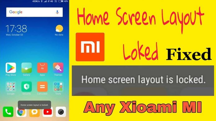 How to unlock home screen layout in Redmi