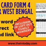 Ration Card Form 4 PDF Download West Bengal